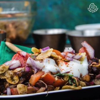 Kala Chana Sprouts Chaat | Black Chickpeas Chaat