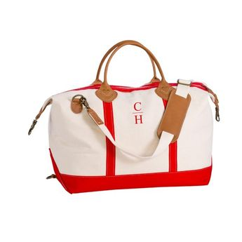 d14f2cf30b7e Coatue Canvas Duffle Bag- Hot Orange