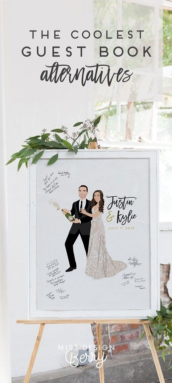 Our #1 Best-Selling wedding guest book alternative is a really fun way to capture the love of your wedding guests as they sign in at your wedding, and makes the perfect statement piece of decor at your wedding reception, and a beautiful wedding keepsake afterwards. This print is completely customized to look JUST like you will on your wedding day, down to the details on your dress, pets, even accessories.