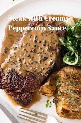Recipes - Steak with Creamy Peppercorn Sauce