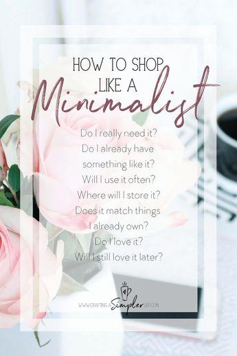 How to Shop Like a Minimalist