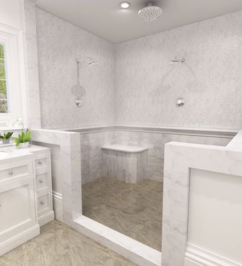 Bellegio Polished Thassos & Carrara Marble Water jet Mosaic Tile