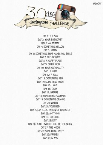 30 Day Photo Challenge!  Have fun finishing the challenge and then create a Poyomi photo book from the photos! www.poyomi.com