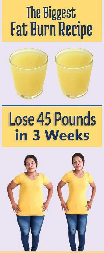 Lose 45 Pounds in 3 Weeks – Amazing Natural Remedy