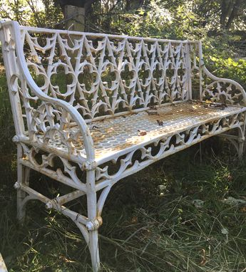 ac667d17e0d62 Gothic pattern cast iron bench in great condition. For Sale.