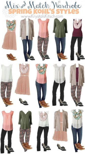 Spring and Summer Fashion Ideas: Create a Mix and Match Wardrobe at Kohl's