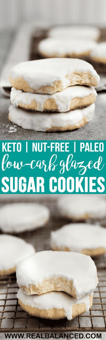 Low-Carb Glazed Sugar Cookies