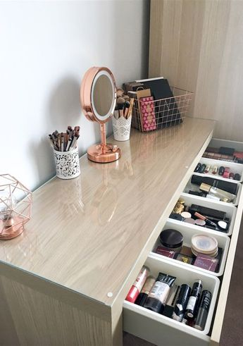 8 Effortless DIY Ideas To Organize Makeup According To Your Personality Type.  Make the most of your makeup storage and decorate your makeup desk according to your personal style.