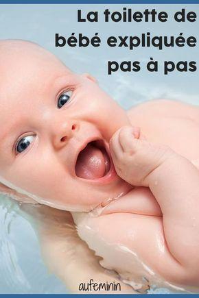La toilette de bébé expliquée pas à pas