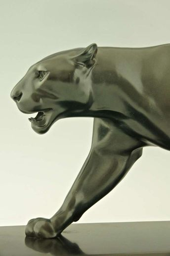Art Deco Sculpture of Walking Panther by Max Le Verrier