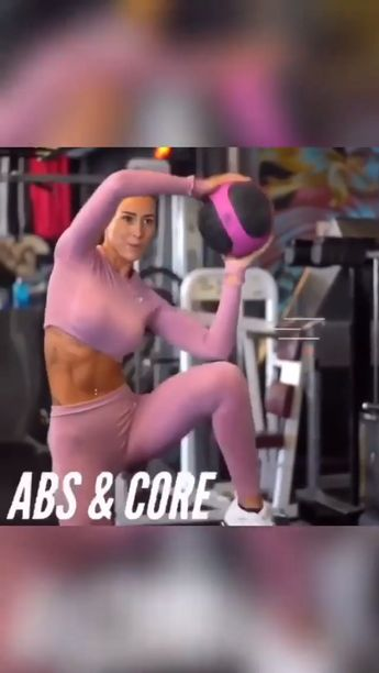 Amazing Abs and Core workout for women. Have 60 seconds rest in between sets.⚡ 1️⃣ medicine oblique crunch 3 x 15 each side 2️⃣ cable oblique crunch  3 x 15 each side 3️⃣ plank variation 3 x 10 (both sides = 1 rep)  4️⃣ bicycles with medicine ball 3 x 20. 💪🏻 Credit: IG @lisafiitt