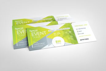Excellent Elegant Event Ticket Template - Graphic Templates