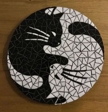 Yin & Yang Mosaikkatzen - #amp #Mosaikkatzen #Yang #Yin