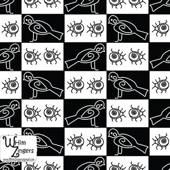 A digital repeat pattern for seamless tiling. #repeatpattern #seamlesspattern #textiledesign #surfacepatterndesign #vectorpatterns #homedecor #apparel #print #interiordesign #decor #repeat #pattern #modern #Geometric #birds #blackandwhite #insects #bugs #black #white #vector #repeat #repeating #tile #scrapbooking #wallpaper #fabric #patternpowerprompts