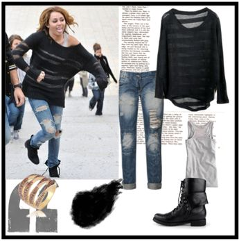 Miley Cyrus in LOL  #miley #mileycyrus #outfit #cute