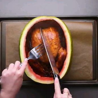 Bake Poultry in a Watermelon