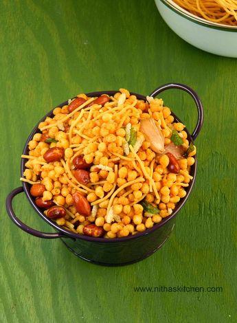 Spicy/Kaara Boondi Mixture/South Indian Mixture recipe