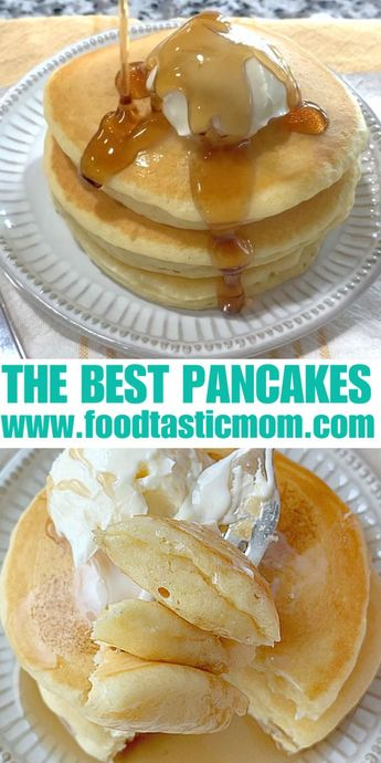 Pancakes as fluffy as your pillow. Tips and tricks for perfect pancakes every time. #pancakes #pancakerecipe