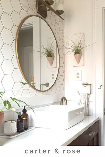 Your bathroom is the perfect place for plants because of the humidity. The Carter & Rose ceramic wall planters are the perfect way to add some plant life in your bathroom when you don't have enough counter space. Hang just one or add a variety to create an instant vertical garden! Visit our shop for the entire collection. #carterandrose #ceramicwallplanters #verticalgarden