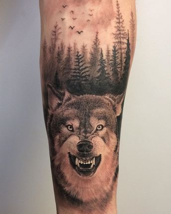 Tatuaz Wilk Las Ideas And Images Pikef