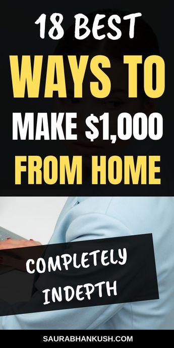 18 Ways to Make Money Fast ($1000+ A Month) - SaurabhAnkush