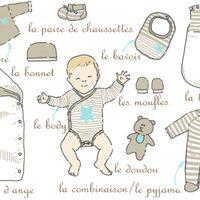 Combien faut-il prévoir de pyjamas et de bodys pour bébé avant sa naissance et à quelle taille ?