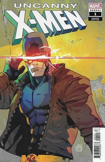 Uncanny X-Men Comic Issue 1 Annual Limited Cyclops Variant Modern Age 2019 Gomez