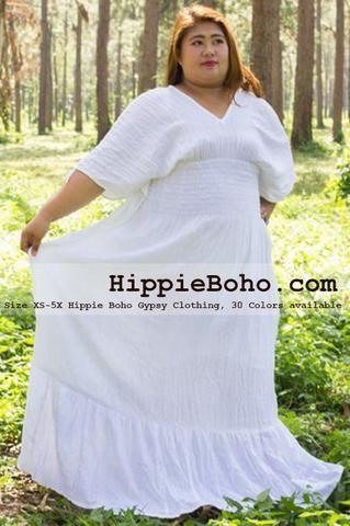 0efe7f69f8d No.010 - Size XS-7X Hippie Boho Caftan White Pagan Greek K