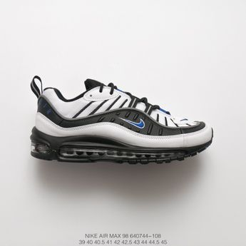 competitive price 5f3d1 77fd0 Nike Air Max 98 Gundam White Black Blue Vintage Sports Racing Shoes