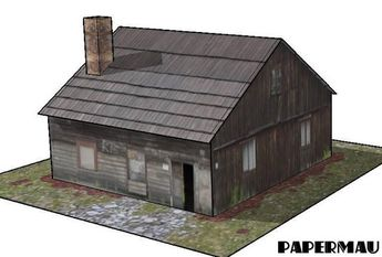 [New Paper Craft] Old Farm House Free Building Paper Model Download at PaperCraftSquare.com
