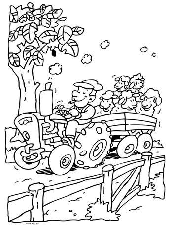 Kleurplaten Trekkers.Sinterklaas En Zwarte Piet Kleurplaat Tractor Kleurplaten Slidehd Co