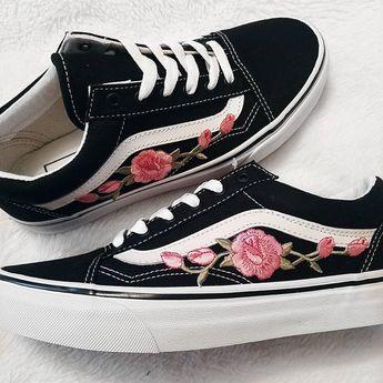 PinkPink RoseBuds Custom Vans Old Skool Sneakers | Products