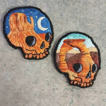 Embroidered Patches by Atomic Bubonic on Etsy