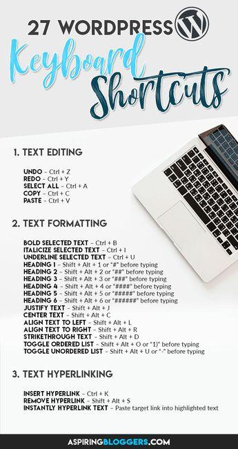 27 WordPress Keyboard Shortcuts to Help You Write Faster