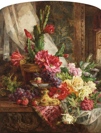 Things of beauty I like to see, Annie Feray Mutrie (1826-1893) - Still life with...
