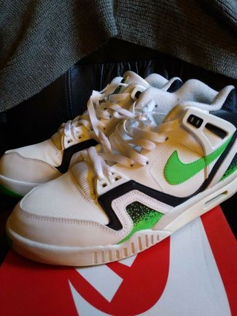 separation shoes 41c86 78439 Nike Air Tech Challenge II Agassi White Poison Green Size 9.5 Great w  Box