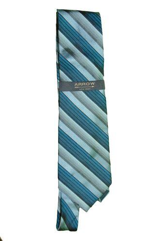 35f1eb927fe4 Details about Arrow Blue Stripe Neck Tie 100% Silk Nwt
