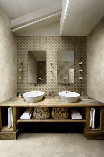 Carrelage décor DOMAINE effet carreau ciment 20 x 20 cm