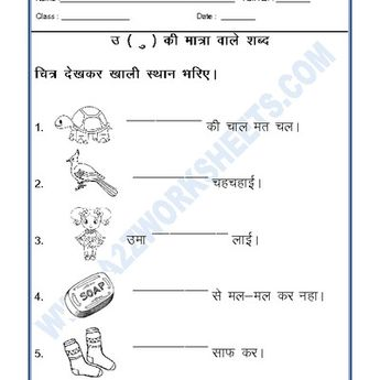 Worksheets of Language for Third-Grade