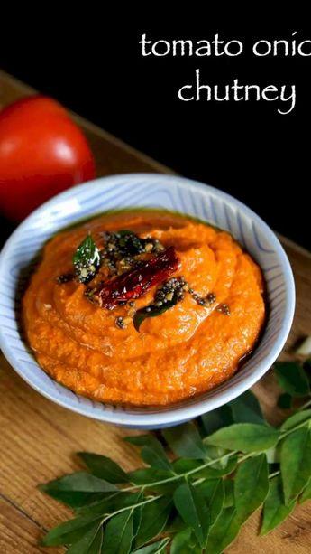 Onion tomato chutney recipe   tomato onion chutney