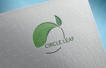 Circle Leaf nature abstract botanical shape artistic illustration branding marketing Logo design #logo #design #nature #abstract #branding #illustration