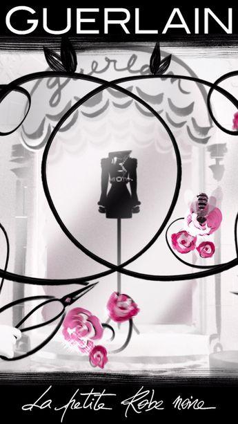 Dans le dressing de la Petite Robe Noire je suis son accessoire fétiche je suis Black Perfecto. Une création parfumée signée Guerlain : une Eau de Toilette Florale célébrant la rose dans tous ses états. L'Eau de rose l'Essence de rose et l'Absolu de rose de Grasse sont ceinturés de notes d'amandes et de cuir. #perfume #guerlain #perfume