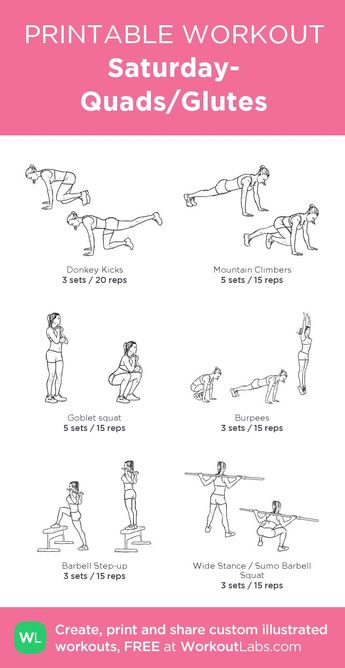 Gym & Entraînement : Saturday- Quads/Glutes:my custom printable workout by @WorkoutLabs #workoutl