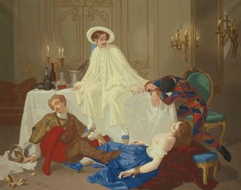 Thomas Couture (French, 1815-1879)  printed and manufactured by Jules Desfossé (French, 1816-1889), The Supper after the Masked Ball