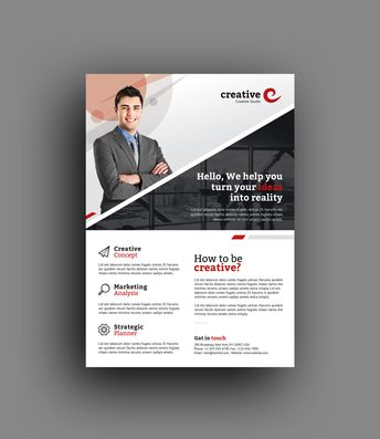 Milan Elegant Professional Business Flyer Template - Graphic Templates