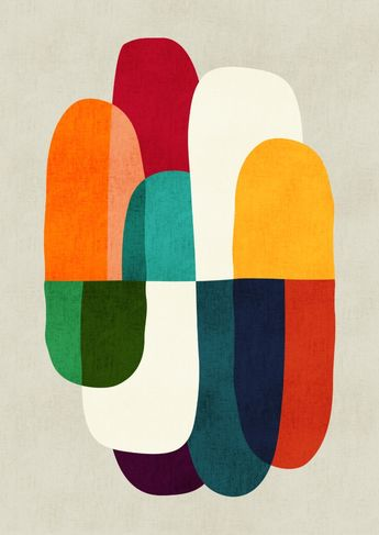 love these overlapping shapes and colors