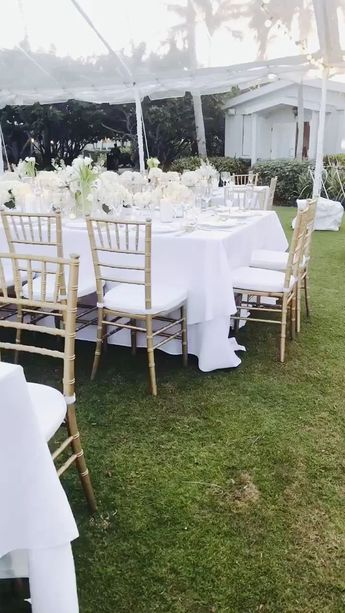 Classic white clear tent wedding