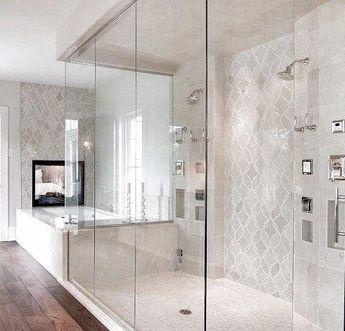 master bath and shower #BathroomShowerStone
