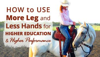 Take the confusion out of riding with leg cues and start riding your barrel horse's WHOLE BODY!