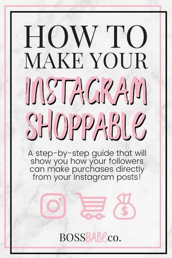 How to Make Your Instagram Shoppable